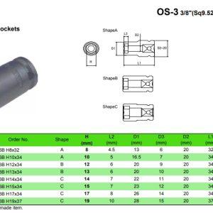 Short Sockets OS-3B
