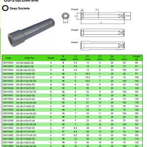 Deep sockets OS-3B