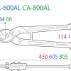 CA-450AL kìm cắt cáp lớn